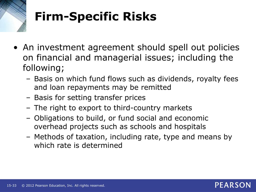 Firm-Specific Risks