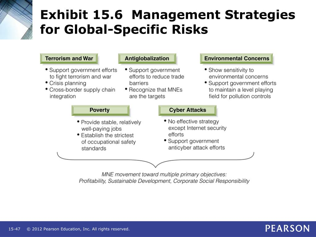 Exhibit 15.6  Management Strategies for Global-Specific Risks