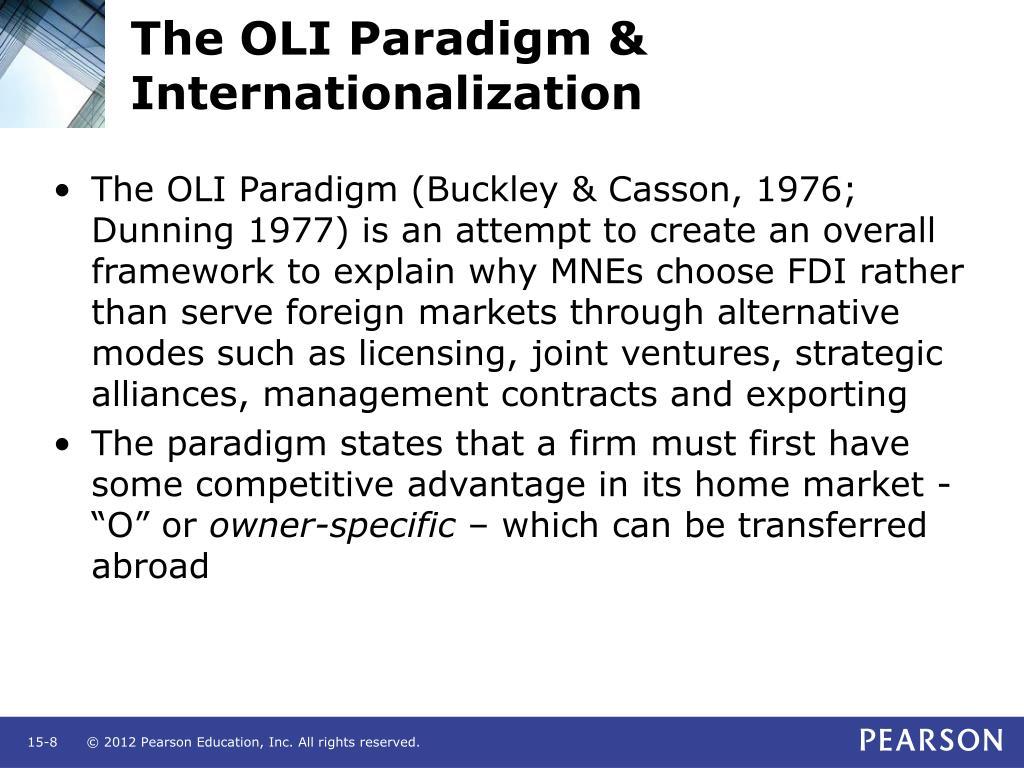 The OLI Paradigm & Internationalization