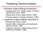 fostering communication13
