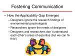 fostering communication15