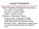 lang s framework