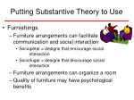 putting substantive theory to use23