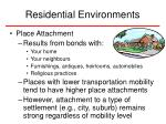 residential environments34