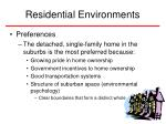 residential environments35