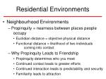 residential environments43
