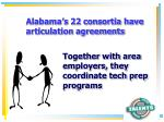 alabama s 22 consortia have articulation agreements