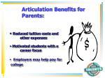 articulation benefits for parents