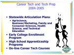 career tech and tech prep 2004 2005