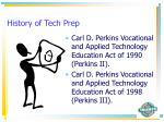 history of tech prep