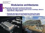 modularize architectures
