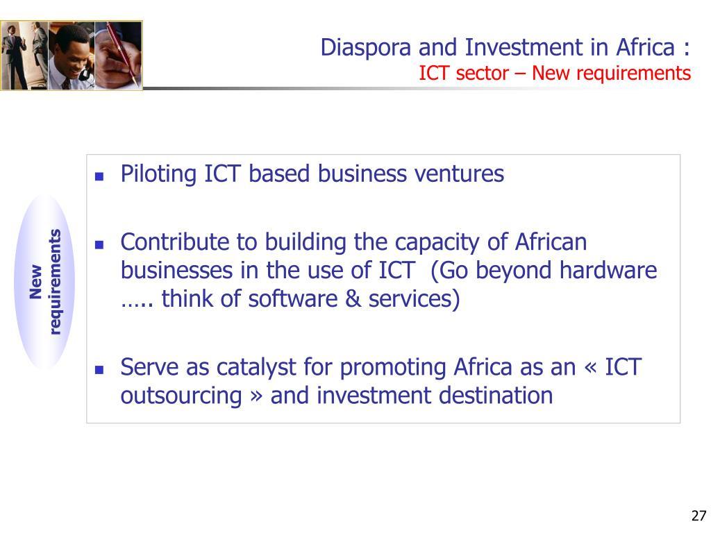 Diaspora and Investment in Africa :