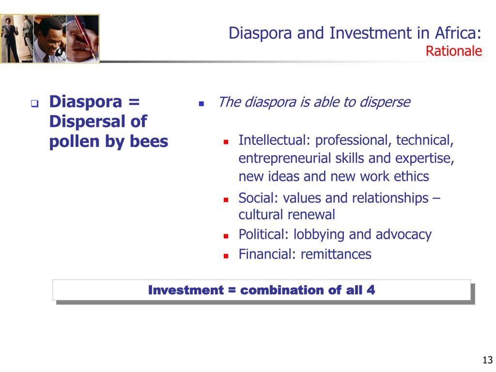 Diaspora and Investment in Africa: