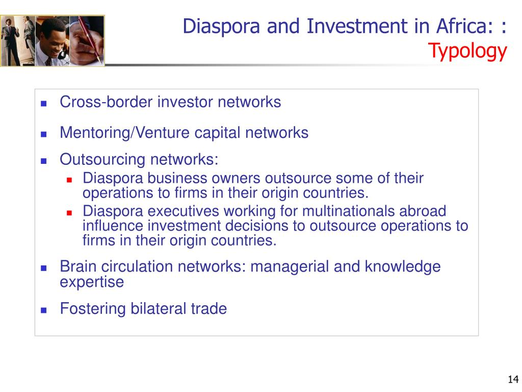Diaspora and Investment in Africa: :