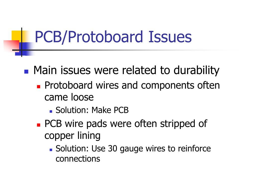 PCB/Protoboard Issues