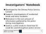 investigators notebook