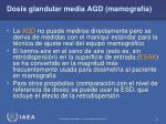 dosis glandular media agd mamograf a