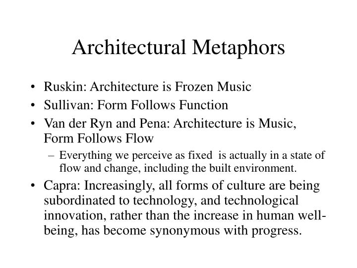 Architectural metaphors