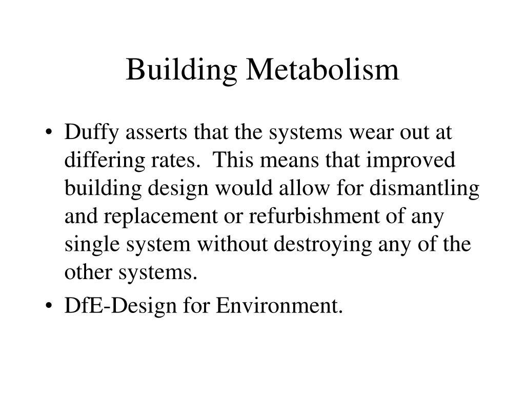 Building Metabolism