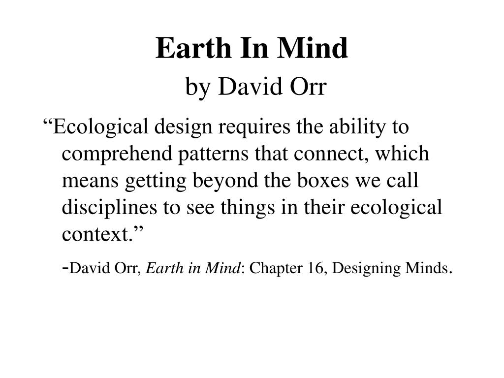 Earth In Mind