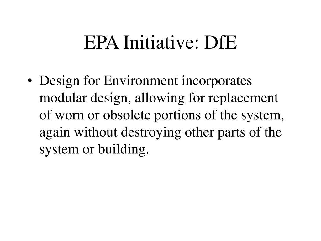 EPA Initiative: DfE