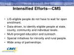 intensified efforts cms