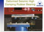 deformed seismic high damping rubber bearing