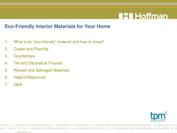 Eco friendly interior materials for your home2