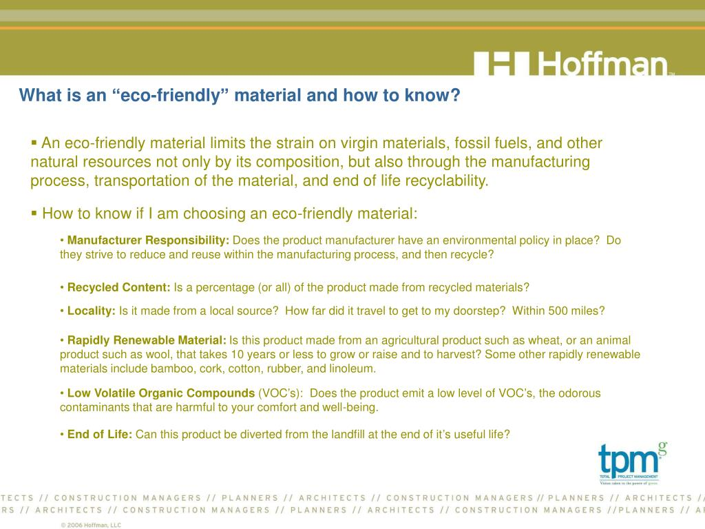 "What is an ""eco-friendly"" material and how to know?"