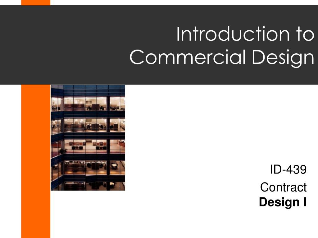 introduction to commercial design l.