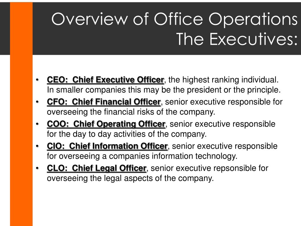 Overview of Office Operations