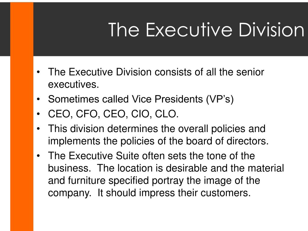 The Executive Division