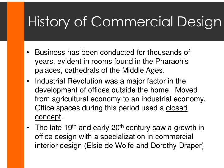 History of Commercial Design