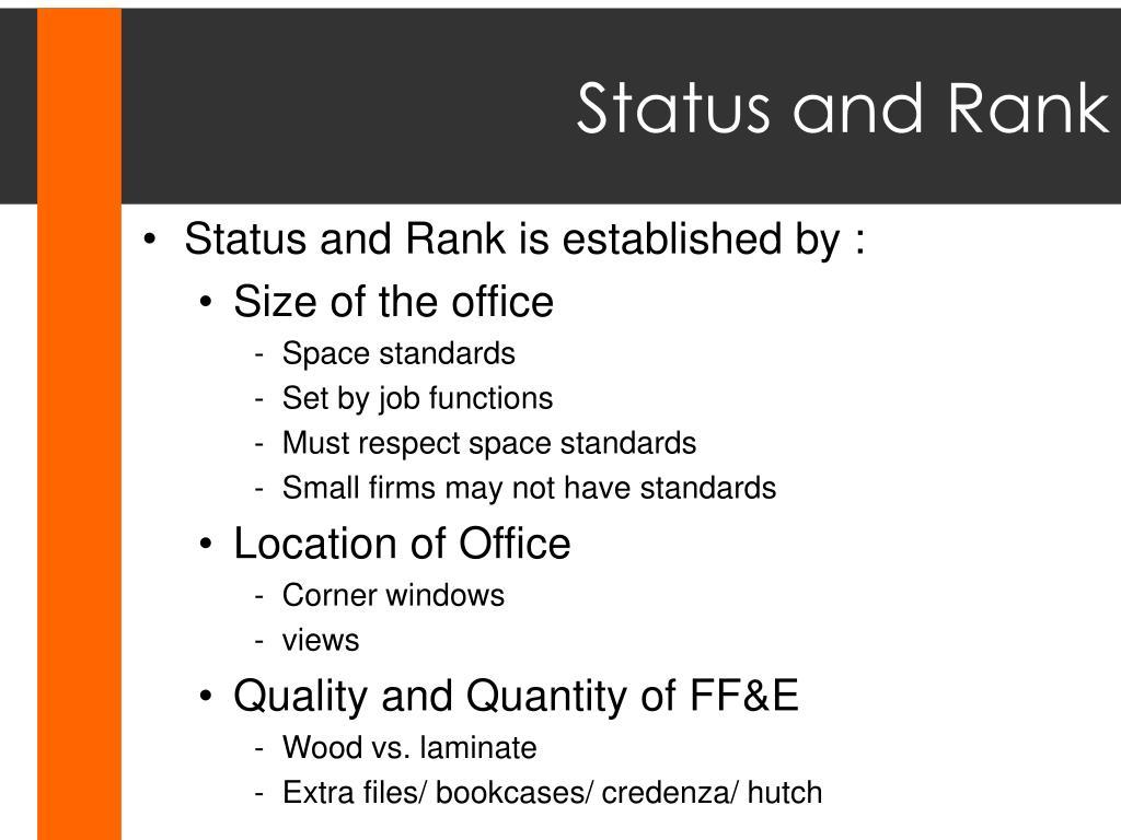 Status and Rank