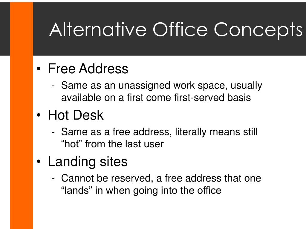 Alternative Office Concepts