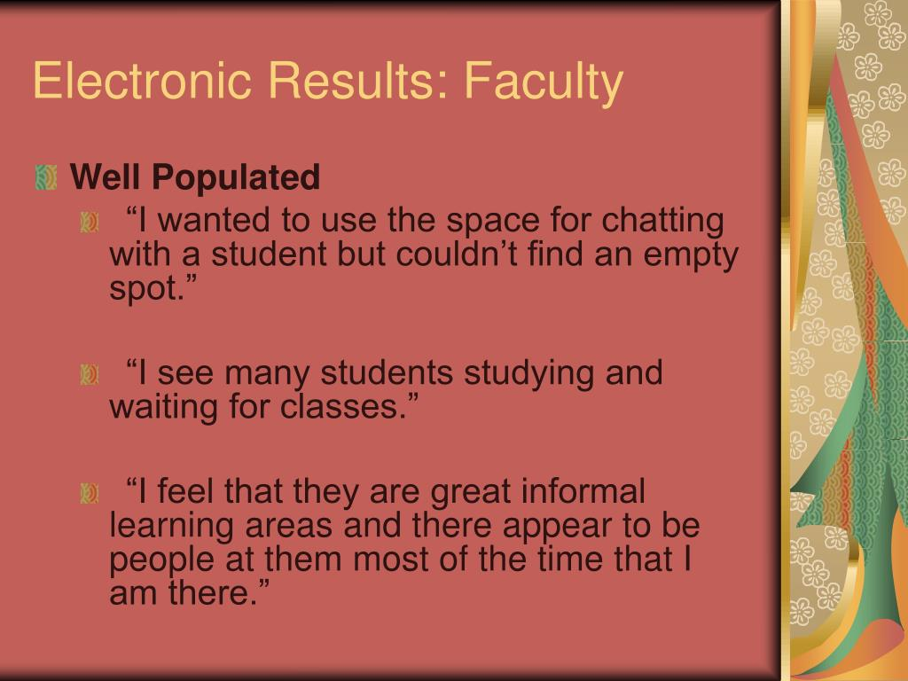 Electronic Results: Faculty