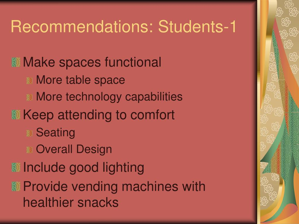 Recommendations: Students-1