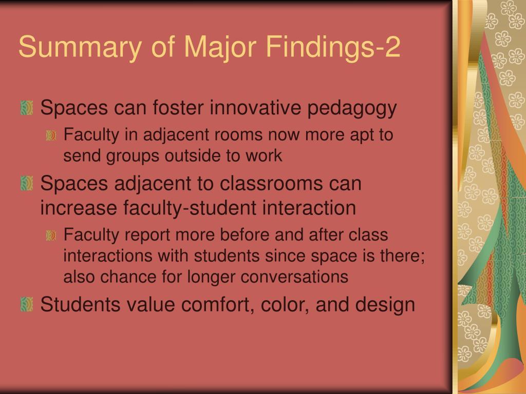Summary of Major Findings-2