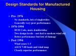 design standards for manufactured housing