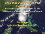 protecting infrastructure from hurricanes