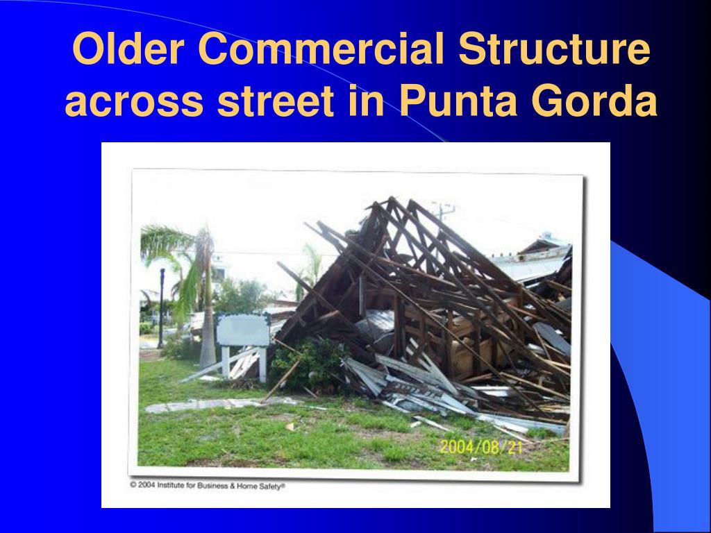 Older Commercial Structure across street in Punta Gorda