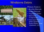 windborne debris