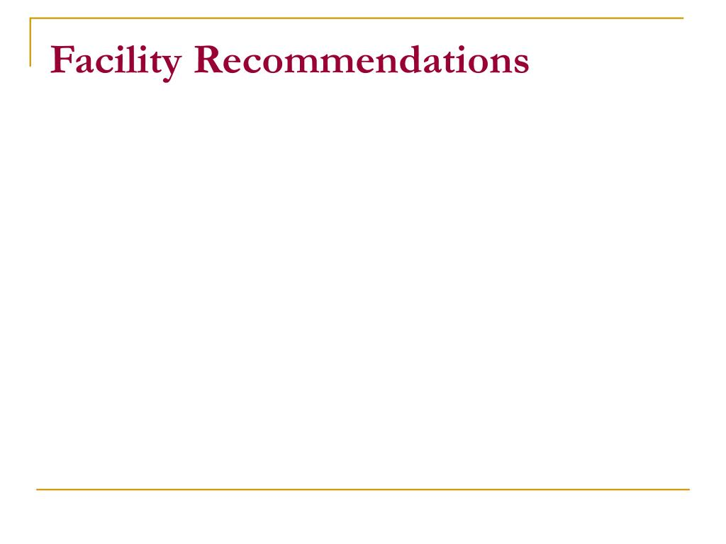 Facility Recommendations