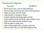 governor s square leased 12 400 sf