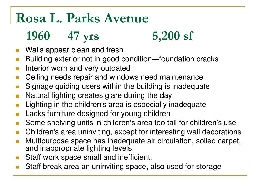 Rosa L. Parks Avenue