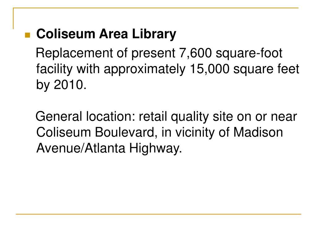 Coliseum Area Library