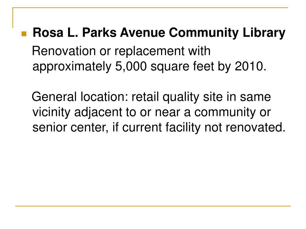 Rosa L. Parks Avenue Community Library
