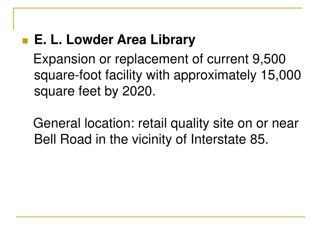 E. L. Lowder Area Library