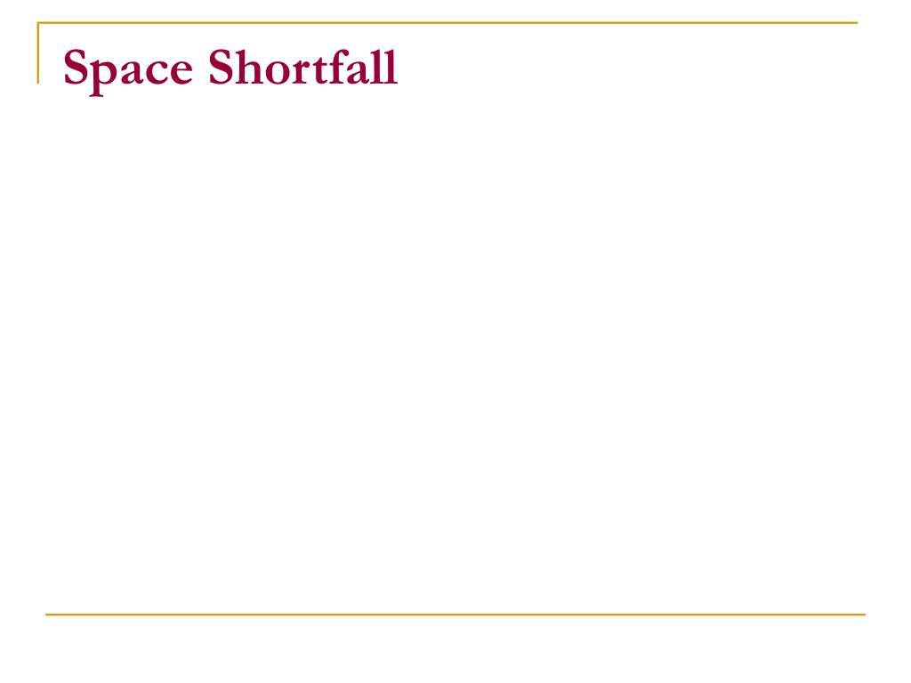 Space Shortfall