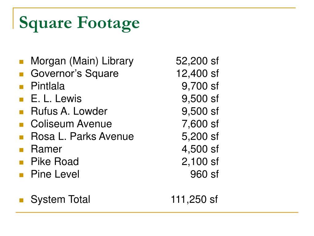 Square Footage